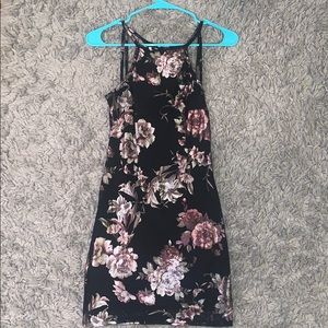 Floral form fitting dress